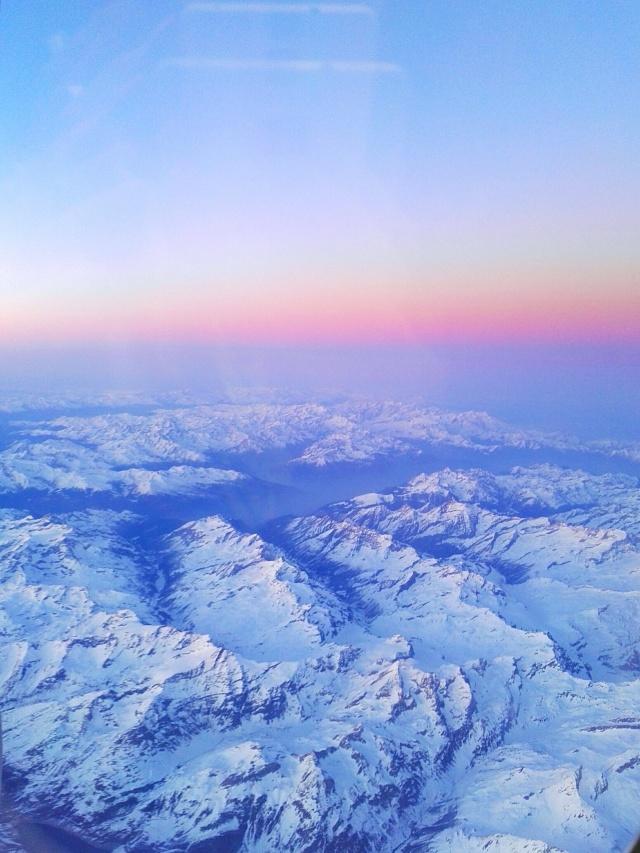 Souvenir d'un vol Paris/Rome : les Alpes Italiennes - © Thia