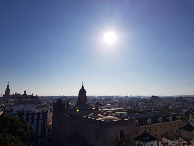 Vue de de Séville depuis le Metropol Parasol - © Thia