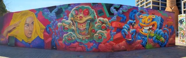 Street art barcelonais (de C. Blanxer & Erase) - © Thia